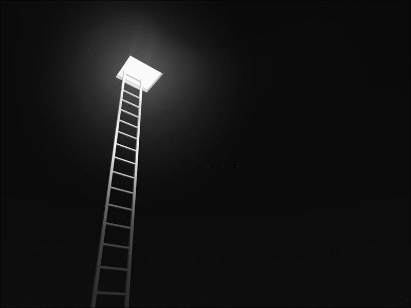 hình ảnh hy vọng chiếc thang bắc lên trời