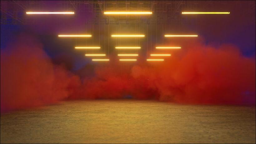 hình ảnh khói trong căn phòng sáng đèn