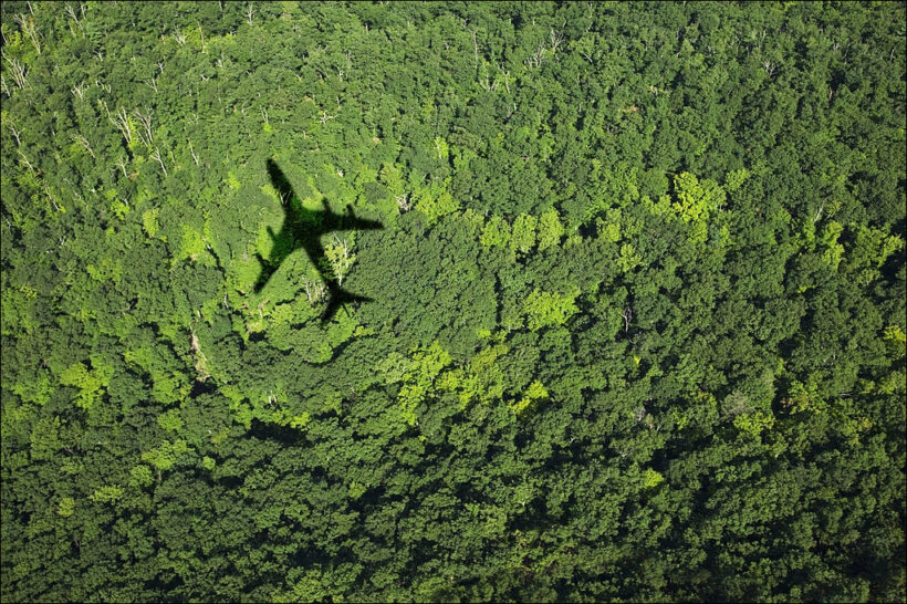 hình ảnh máy bay giữa rừng núi