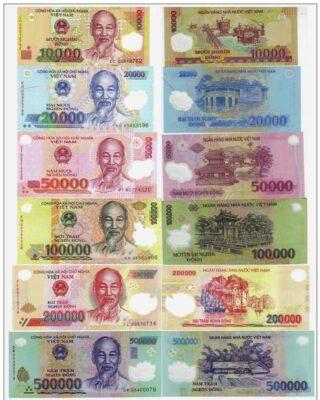 hình ảnh mệnh giá tiền Việt Nam