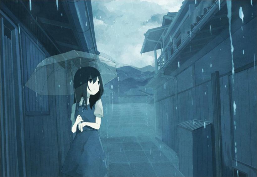 hình ảnh mưa đẹp buồn lãng mạn anime