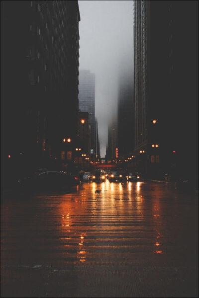 hình ảnh mưa đẹp buồn lãng mạn của thành phố về đêm