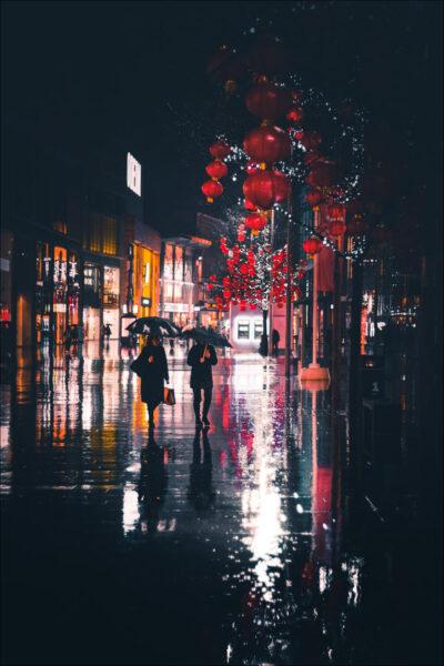 hình ảnh mưa đẹp buồn lãng mạn đường phố không đèn