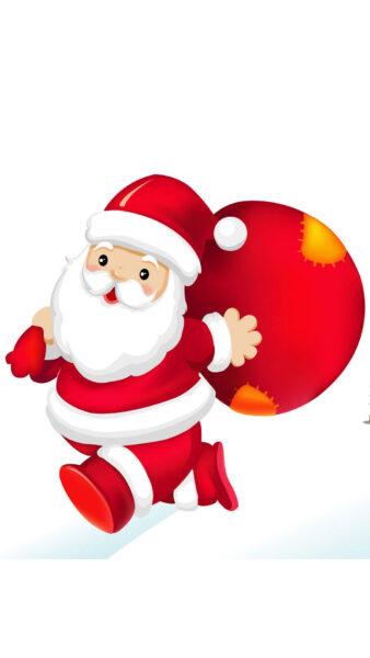 hình ảnh ông già Noel vác túi quà