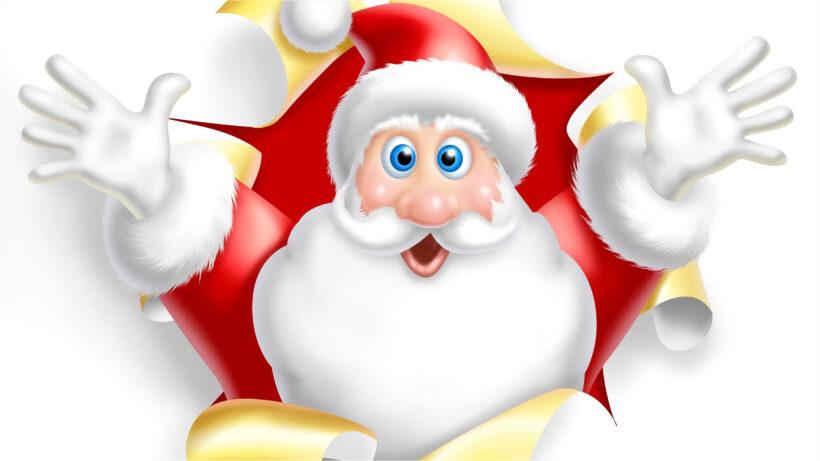 hình ảnh ông già Noel vui vẻ