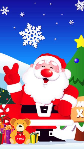 hình ảnh ông già Noel xin chào