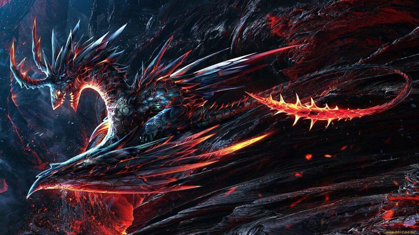 hình ảnh rồng 3d lửa