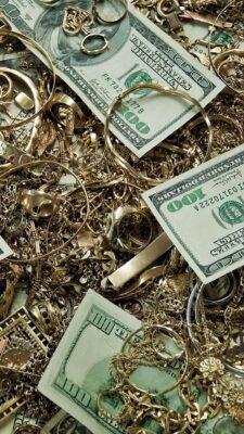 hình ảnh tiền đô la và vàng