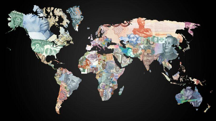 hình ảnh tiền xếp thành các quốc gia
