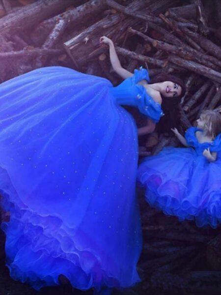 hình ảnh váy cưới cho hai mẹ con