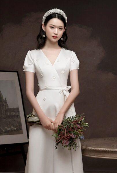 hình ảnh váy cưới đơn giản nhẹ nhàng