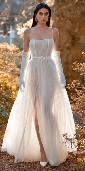 hình ảnh váy cưới trắng đơn giản