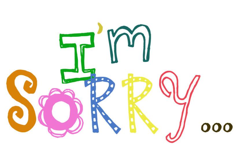 Hình ảnh xin lỗi người yêu bằng chữ tiếng anh