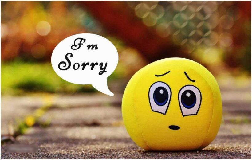 Hình ảnh xin lỗi người yêu dễ thương
