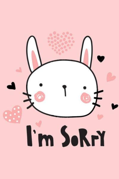 Hình ảnh xin lỗi người yêu với chú thỏ