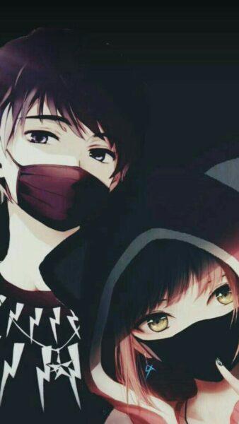 Hình Avatar Nam cặp đôi che mặt