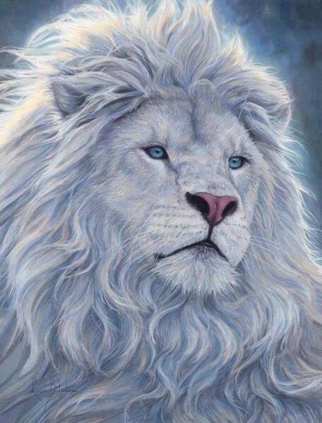 Hình Avatar Trắng hình con sư tử