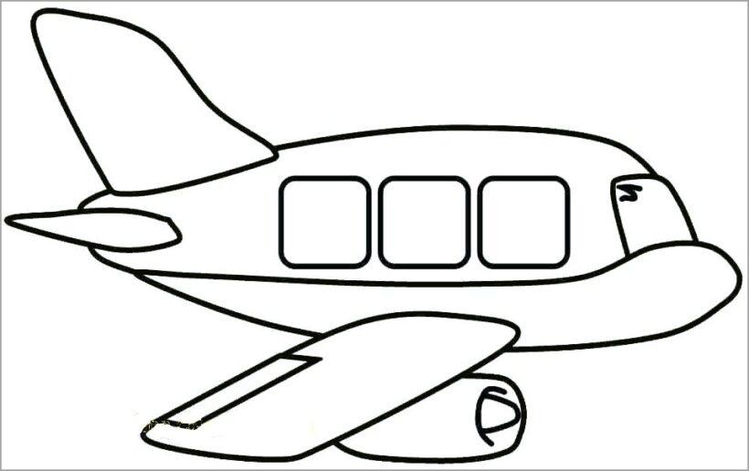 Hình vẽ chưa tô màu máy bay