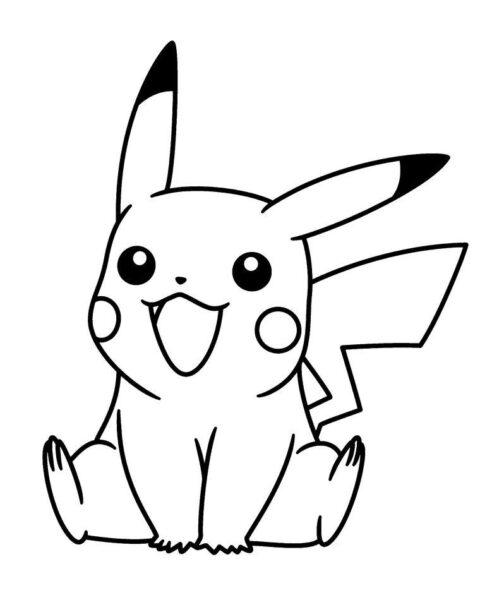 Hình vẽ đen trắng pikachu