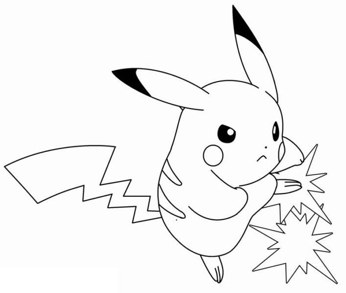 hình vẽ đen trắng pokemon đáng yêu nhất