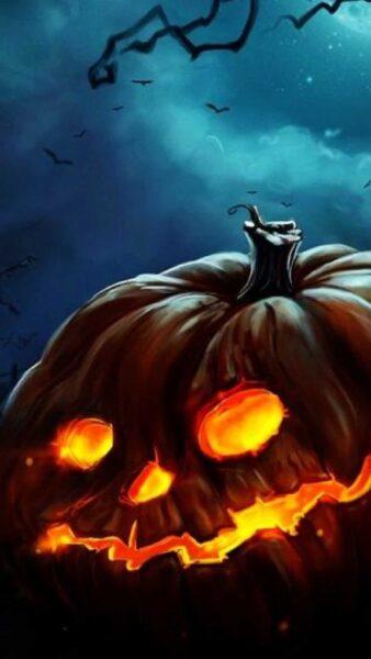 hình vẽ halloween bí ngô khổng lồ