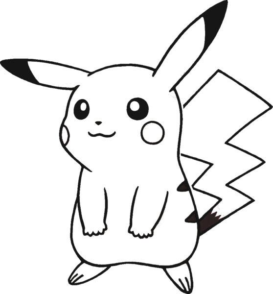 Hình vẽ Pikachu cho bé tập tô