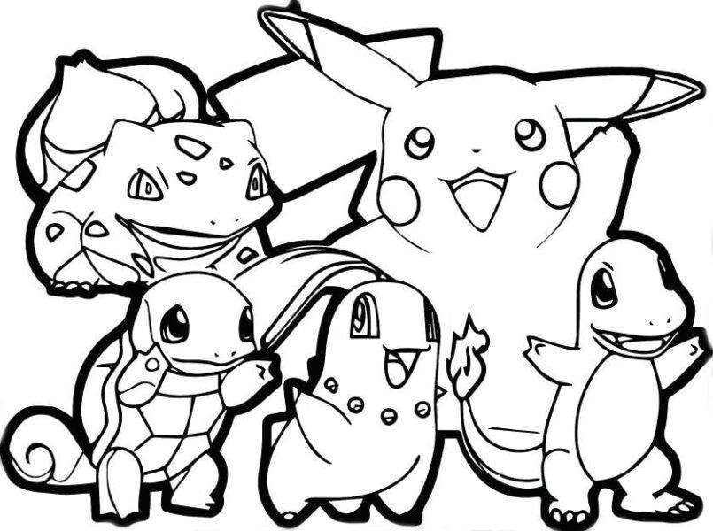 Hình vẽ tô màu pokemon dễ thương nhất