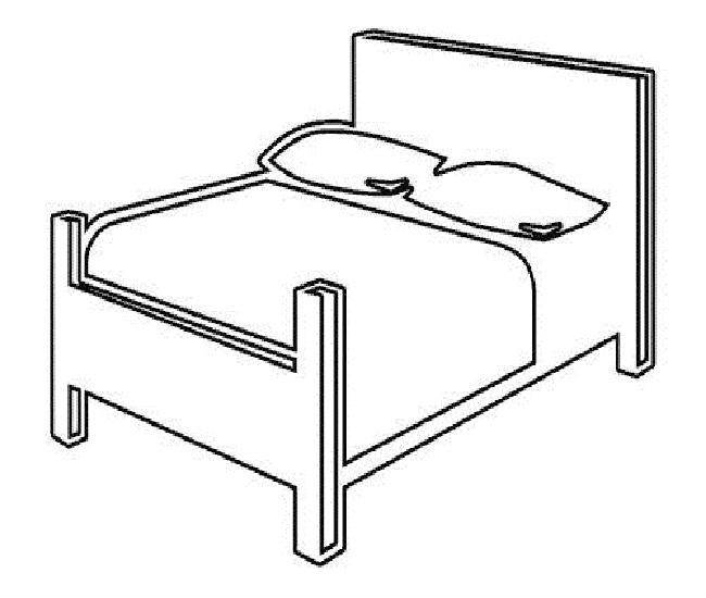 Mẫu hình chiếc giường ngủ của gia đình cho bé tập tô
