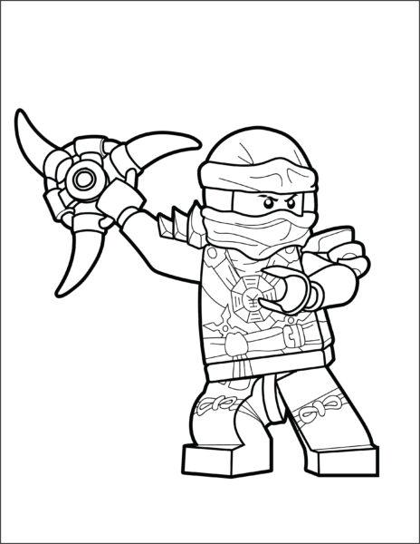mẫu tranh tô màu ninjago cho bé tạp tô