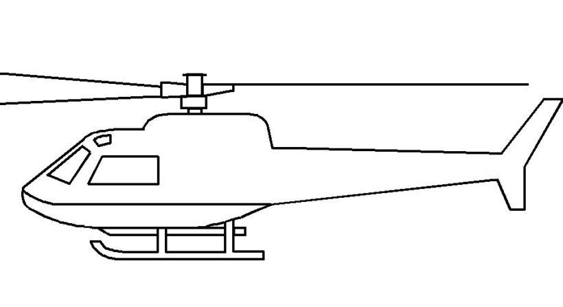 Mẫu vẽ máy bay cho bé tập tô