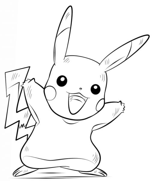 Mẫu vẽ tô màu pokemon đẹp nhất