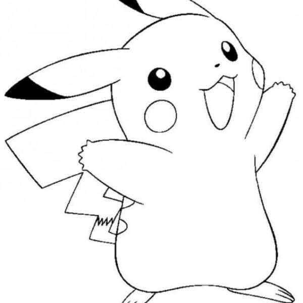 Tranh cho bé tập tô màu Pokemon