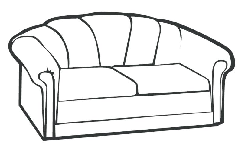 Tranh mẫu chưa tô màu đồ dùng của gia đình hình chiếc ghế sô pha