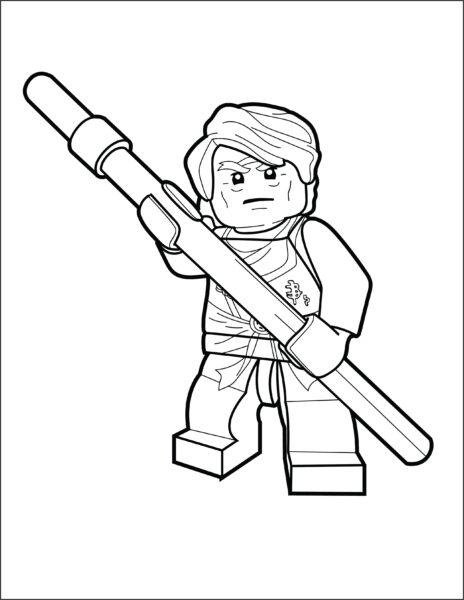 Tranh ninjago cho bé tập tô