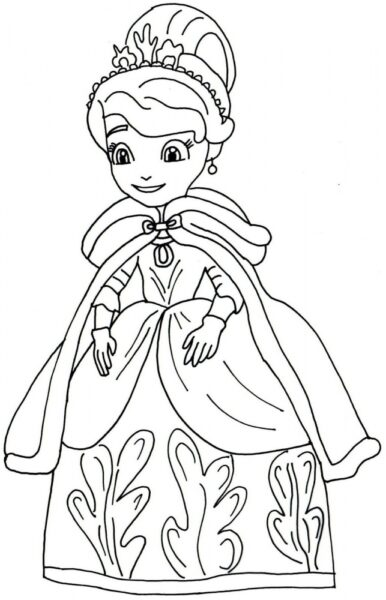 Tranh tô màu công chúa chibi hình ảnh công chúa chibi trong trang phục mùa đông