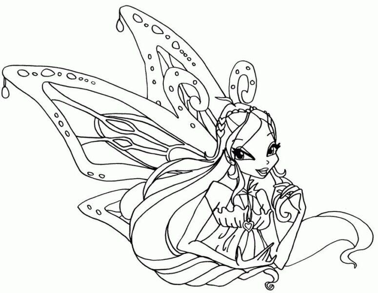 Tranh tô màu công chúa winx dễ thương nhất
