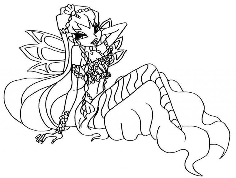 Tranh tô màu công chúa winx xinh đẹp, dễ thương