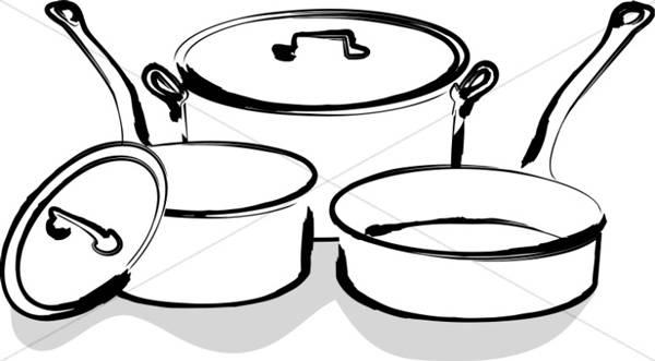 Tranh tô màu đồ dùng gia đình hình đồ dùng nhà bếp