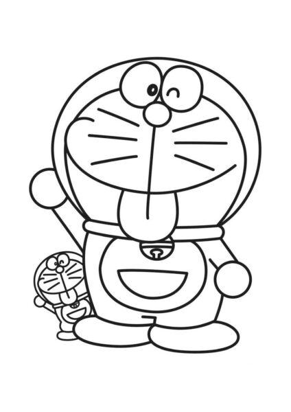 Tranh tô màu doremon và doremon mini