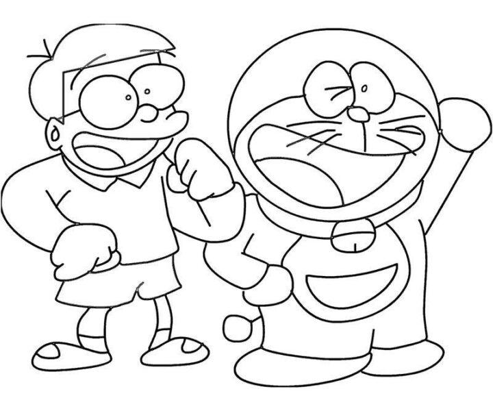 Tranh to màu doremon và nobita