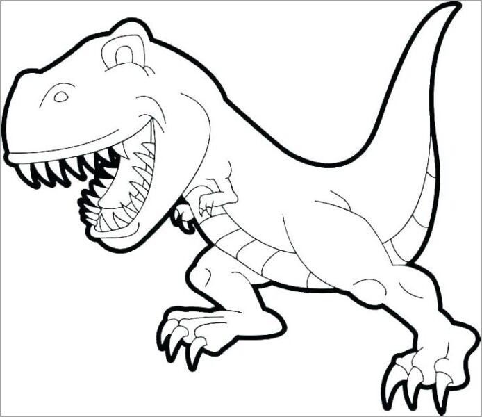 Tranh tô màu khủng long bạo chúa con