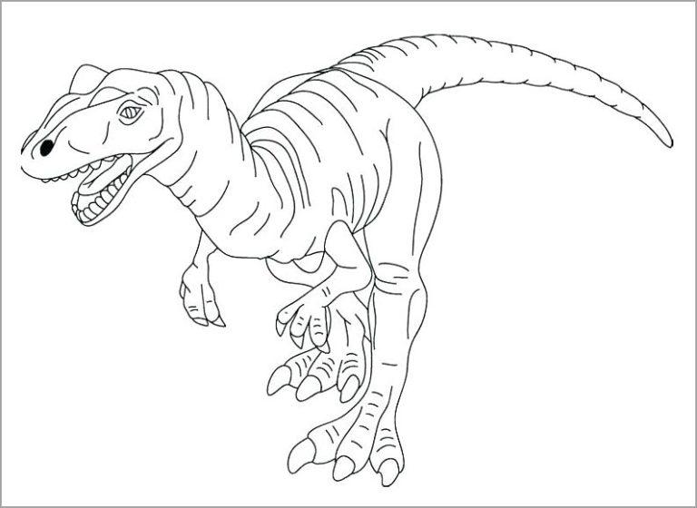 Tranh tô màu khủng long bạo chúa to