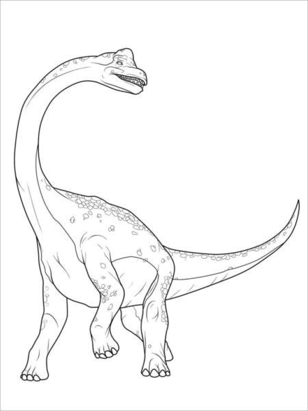 Tranh tô màu khủng long cổ dài