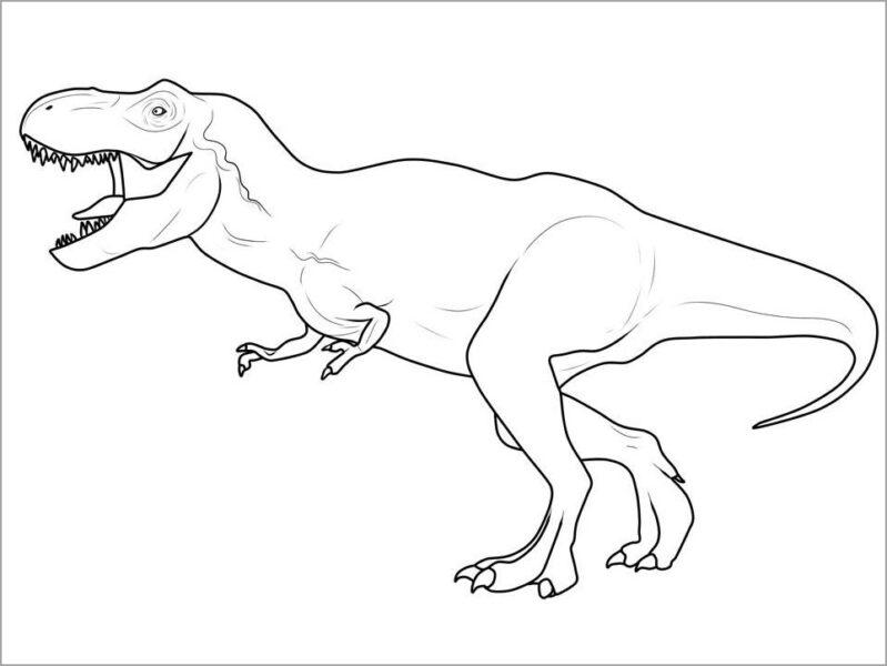 Tranh tô màu khủng long đi bằng hai chân