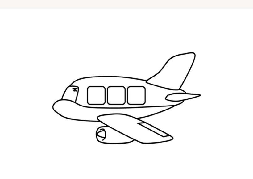 Tranh tô màu máy bay đang bay