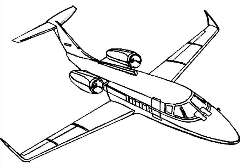 Tranh tô màu máy bay đẹp
