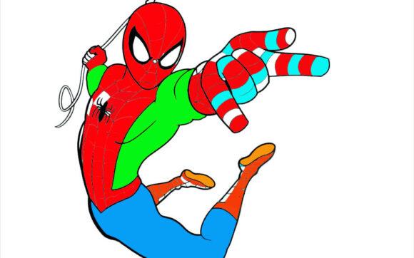 Tranh tô màu người nhện