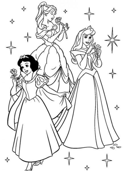 Tranh tô màu những nàng công chúa xinh đẹp cho bé gái 7 tuổi