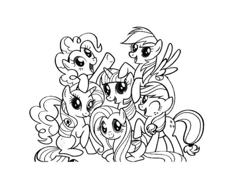 Tranh tô màu những ngựa pony đáng yêu