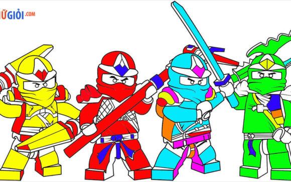 Tranh tô màu Ninjago đẹp nhất cho bé tập tô